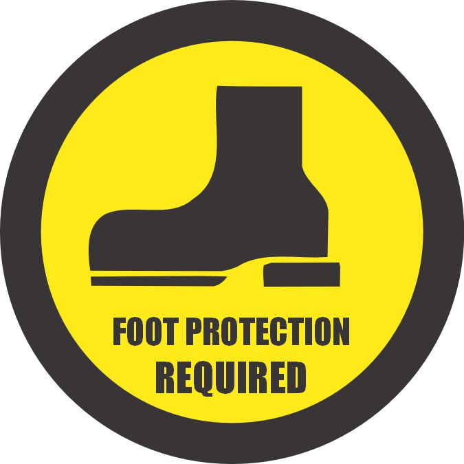 *FOOT PROTECTION REQUIRED