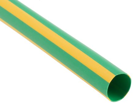 12 mm Yellow/Green heat shrink tube Shrink ratio is 2:1, PE