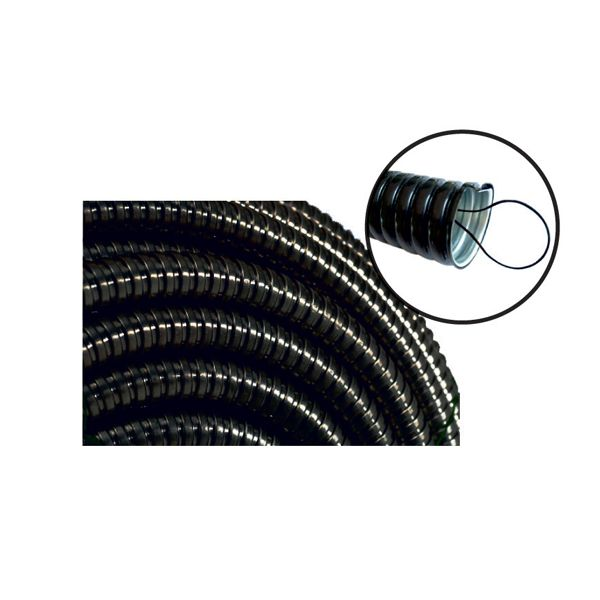 16 mm PVC Coated Steel Flexible Conduit Black with spring rods MUTLUSAN
