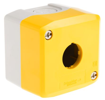 1 Way Push Button Box Yellow/Gray Weiller WL5-D101S