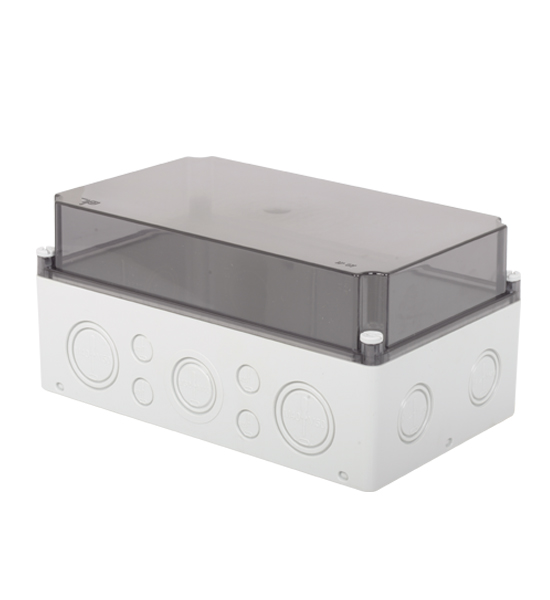 180x300x150 - Transparent Cover - Deep Cover / Screw Lid (IP 67) code 3310-272-0100 TP ELECTRIC