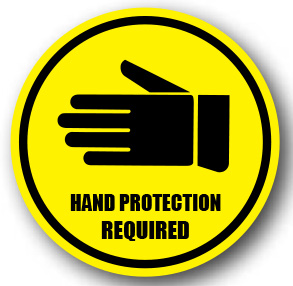 *Hand PROTECTION REQUIRED