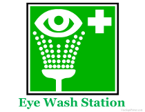 *Göz yuma aparatı EYE WASH STATION